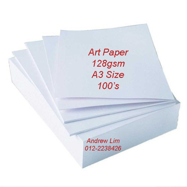 500pcs A3 Art Paper 128gsm Double Side Glossy