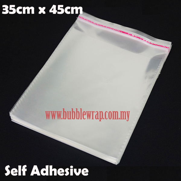 100pcs OPP Bag 35x45cm Self Adhesive Transparent Plastic Bag